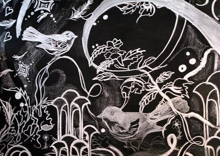 blackboard art