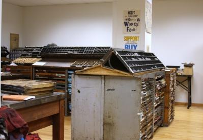 CCBP letterpress studio